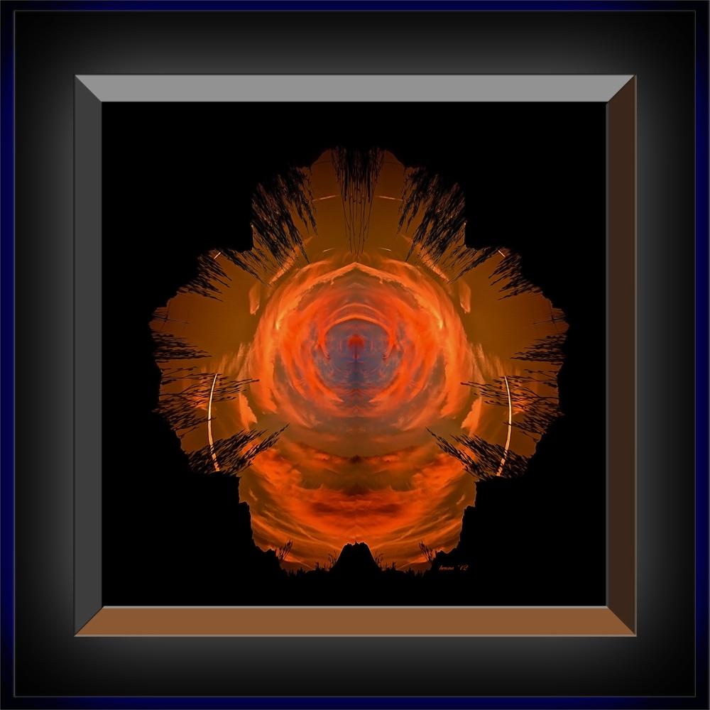 Desert Eye Sunset II blog framed III