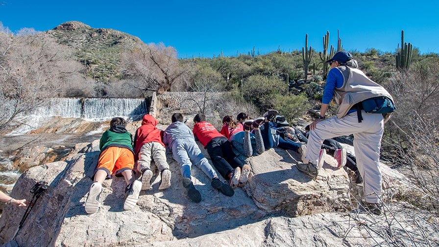 Kids at Sabino Dam-72