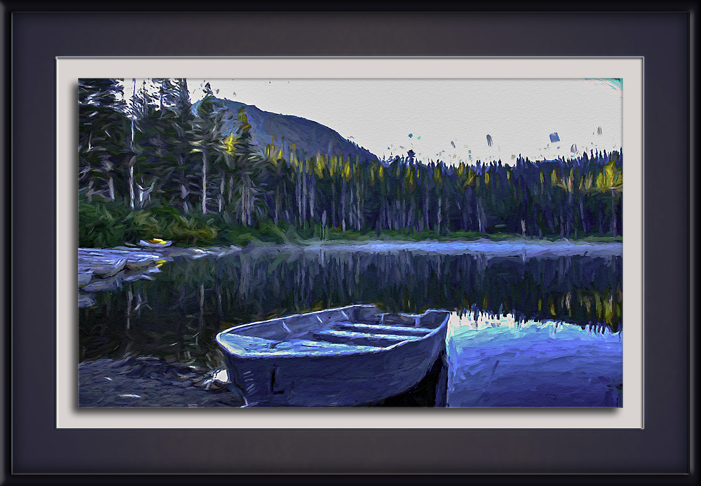 Boat On Lake-Edit-1-art-72