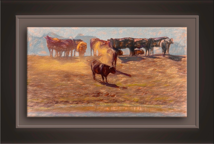 Cattle at Watering Hole-Edit-5-art-72