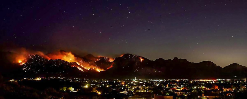Bighorn Fire Above Oro Valley