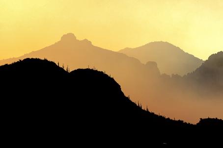 Ventana Canyon Sunrise Smoke